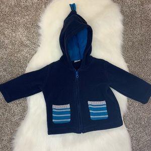 Hanna Andersson Blue Fleece Sweatshirt Size 80 (2)